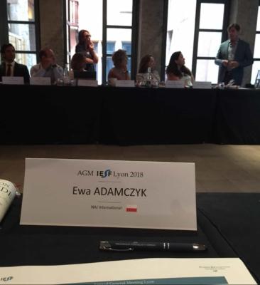 Global Conference IESF 2018 Lyon in France   Prize for NAJ International